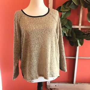 Tan sweater with sheer black back